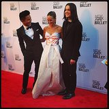Sarah Jessica Parker walked the red carpet with fashion designers Prabal Gurung and Olivier Theyskens at the NYC Ballet Fall Gala. Source: Instagram user popsugar