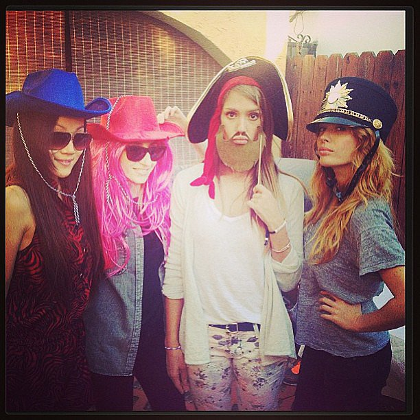 Jessica Alba played dress-up with friends. Source: Instagram user jessicaalba
