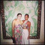 Nicole Richie and Katherine Power donned their prettiest florals for dinner in Mexico. Source: Instagram user nicolerichie