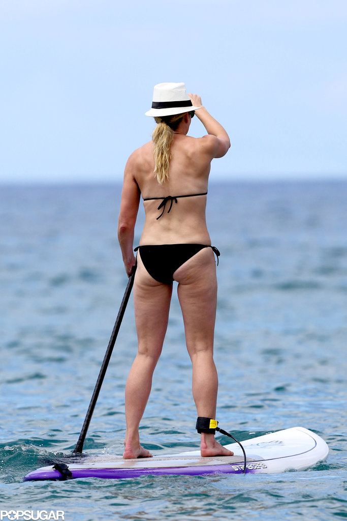 Chelsea Handler sported a black bikini while on vacation.