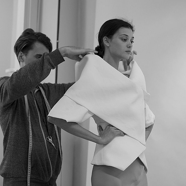 CR Fashion Book caught last-minute, final touches behind the scenes at Gareth Pugh. Source: Instagram user crfashionbook