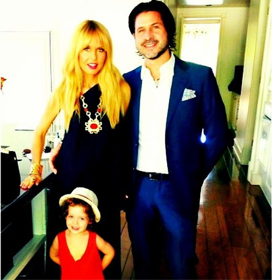 Rachel Zoe and Rodger Berman had a stylish Sunday with big-brother-to-be Skyler. Source: Instagram user rachelzoe