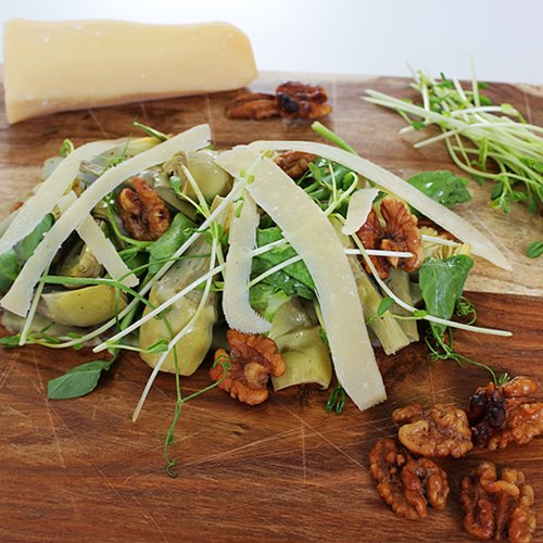 Artichoke, Parmesan, and Walnut Salad Recipe