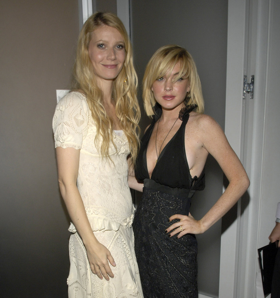 Gwyneth Paltrow posed with Lindsay Lohan at the NYC Cinema Society screening of Proof in September 2005.