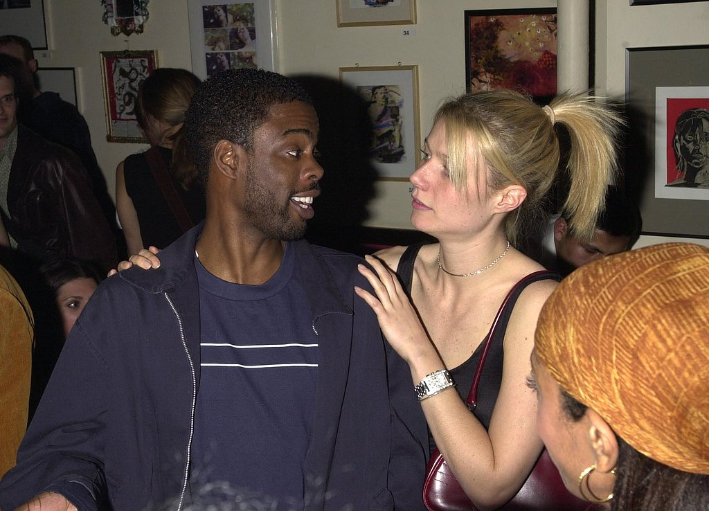 Gwyneth Paltrow chatted with Chris Rock backstage at a Sheryl Crow concert in NYC back in April 2001.