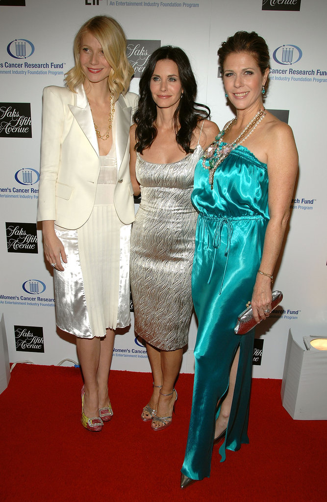 Gwyneth Paltrow hit the red carpet with Courteney Cox and Rita Wilson for a Saks Fifth Avenue event in LA in February 2009.