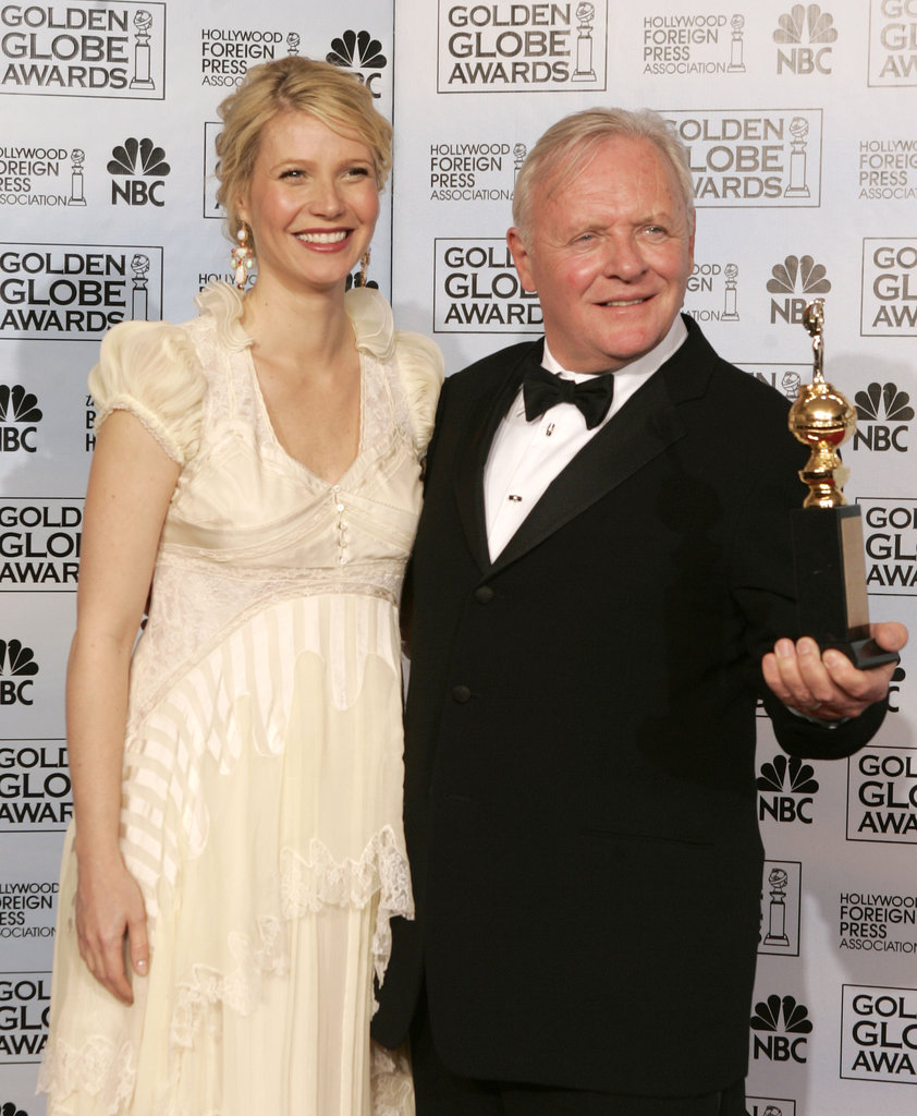 Gwyneth Paltrow was all smiles with Anthony Hopkins in the press room at the Golden Globes in January 2006 — she awarded the iconic actor with the Cecil B. DeMille award during the ceremony.