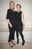 Gwyneth Paltrow and Glee star Dianna Agron linked up at a Louis Vuitton exhibition during Paris Fashion Week in March 2012.