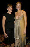 Gwyneth Paltrow, who was pregnant with her daughter, Apple Martin, posed with Jennifer Garner at the 2004 ShoWest Awards in Las Vegas.