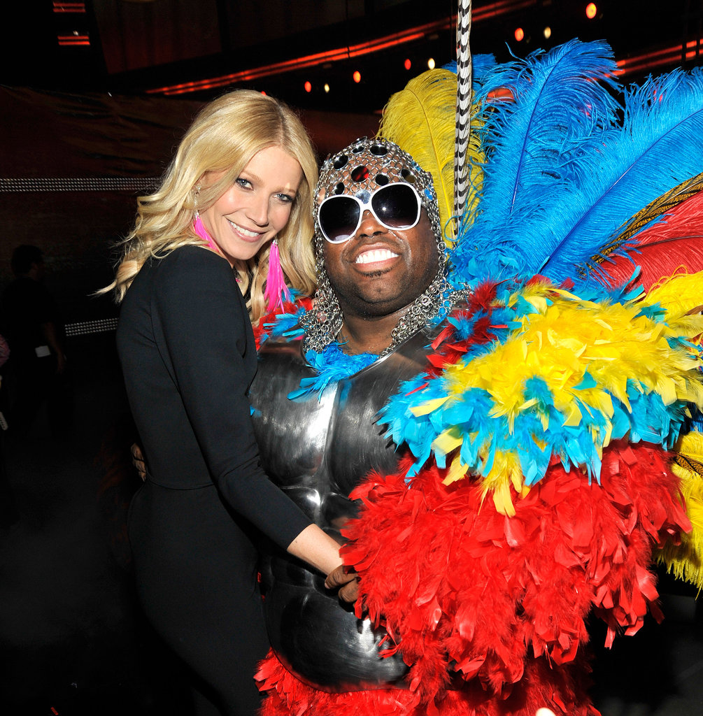Remember when Gwyneth Paltrow performed at the Grammys? She posed backstage with her onstage partner CeeLo Green at the February 2011 show.