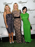 Gwyneth Paltrow walked the red carpet with friends Kate Hudson and Christina Ricci for a Chopard event in NYC in April 2010.