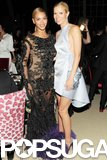 Gwyneth Paltrow met up with her BFF Beyoncé inside the Met Gala reception in May 2012.