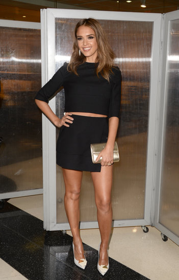 Jessica Alba struck a pose at the premiere, which was co-sponsored by Ciroc vodka.