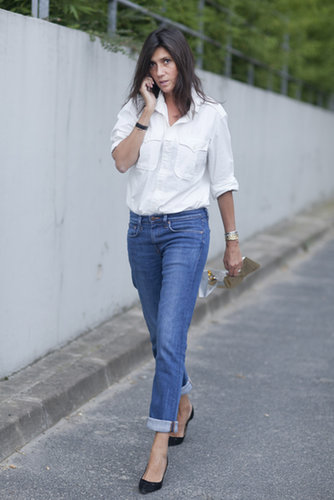 Emmanuelle Alt proved that you don't need an army of statement pieces; sometimes, just your favorite jeans and a great button-down will do.