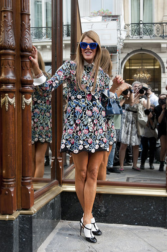 Anna Dello Russo showed off a little Valentino.