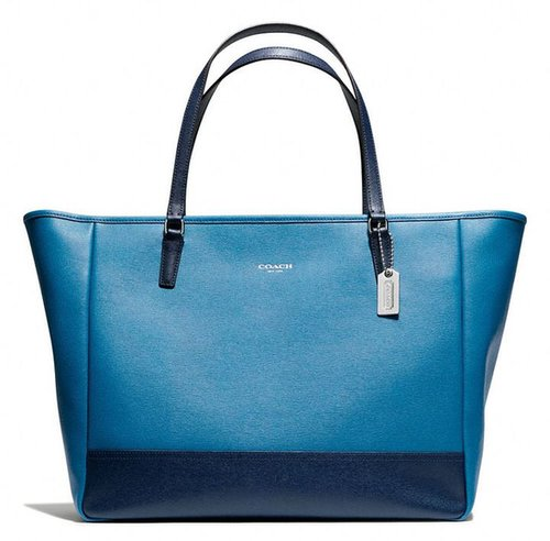 Large City Tote In Saffiano Colorblock Leather
