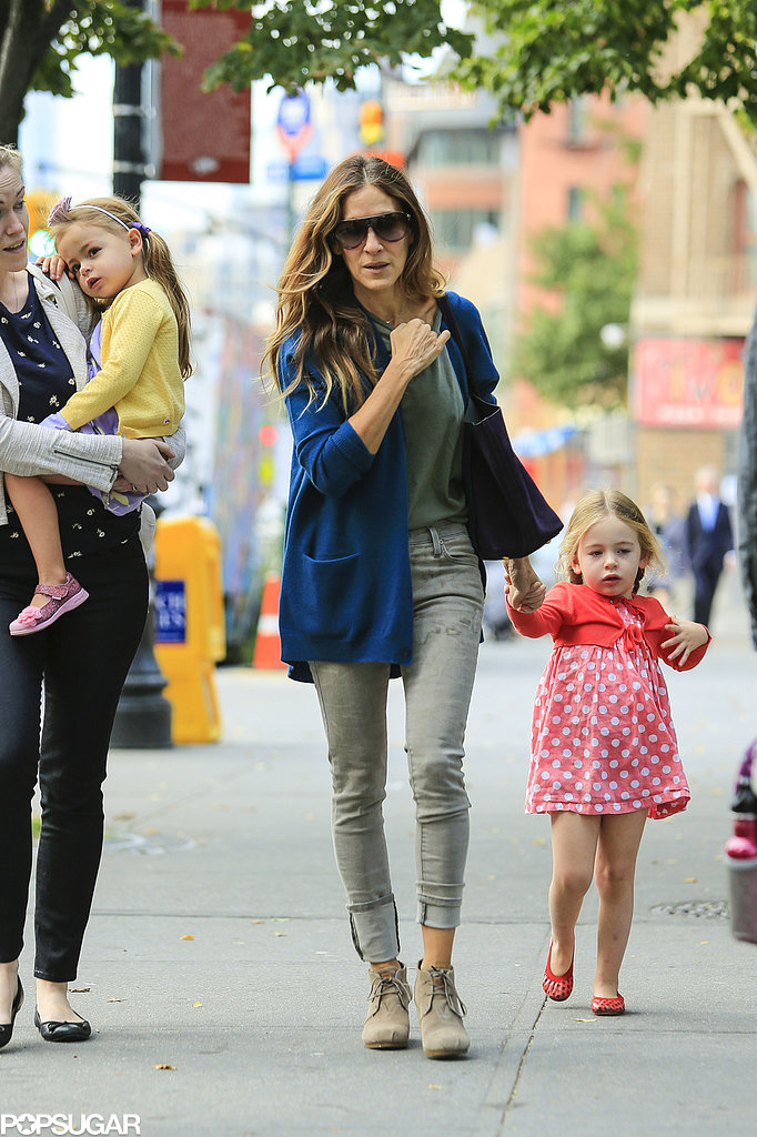 Sarah Jessica Parker walked her daughters to school in NYC.
