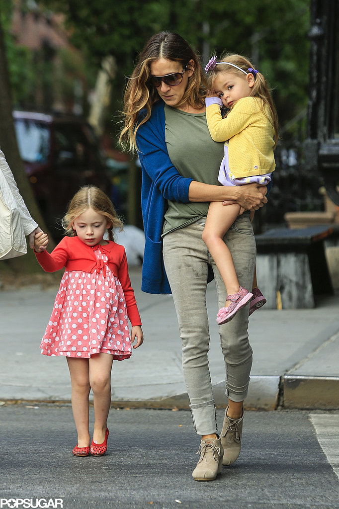 Sarah Jessica Parker walked her daughters to school.
