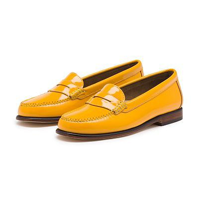 Fall means preppy, and preppy means penny loafers. The style has been returning slowly, and the latest styles from Bass ($128) offer the classic body shape in a bright, glossy color that's perfect for the girl who wants to wear something that no one else has on. — LM