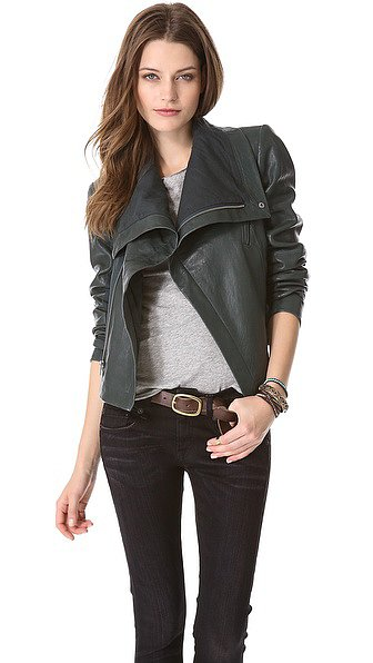After living and breathing for my black leather moto jacket last Fall, technically all year due to San Francisco's temperamental weather, my go-to topper is in need of a well-deserved rest — leaving me with a sartorial void. Housing the perfect balance of edgy and elegance, this rich leather Veda jacket ($890) definitely fits the bill.  — MV