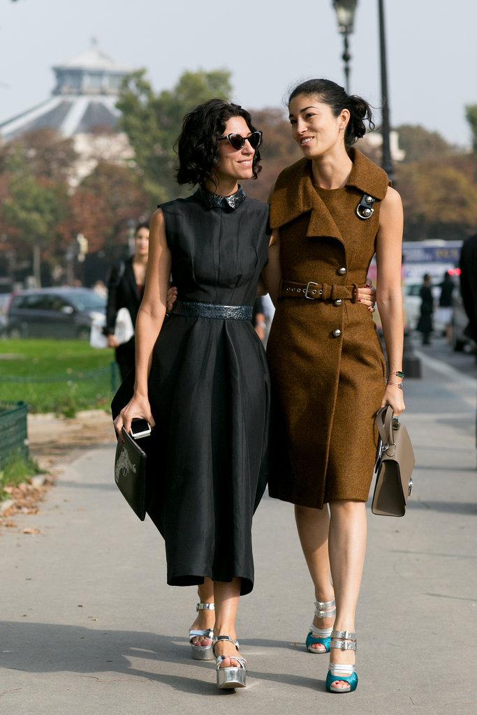 Yasmin Sewell and Caroline Issa nailed the ladylike Parisian dress code.