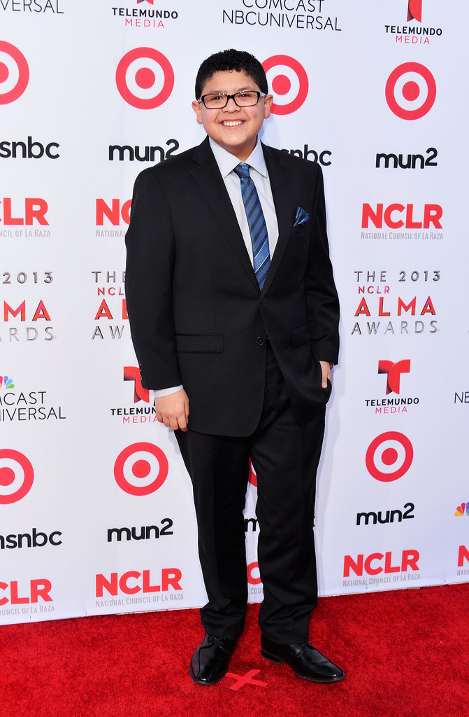 Modern Family's Rico Rodriguez broke out his suit and tie for the red carpet event.