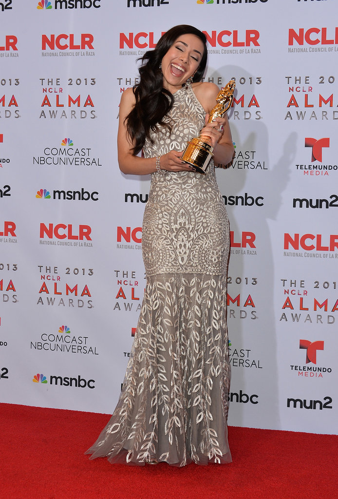 Dexter actress Aimee Garcia showed off her award.