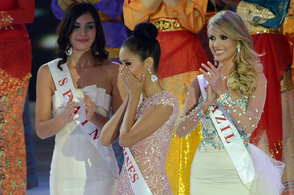 Miss Philippines Megan Young looked surprised when her name was called as the winner of Miss World 2013.