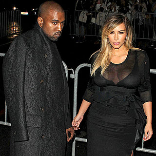 Kim Kardashian and Kanye West Holding Hands in Paris 2013