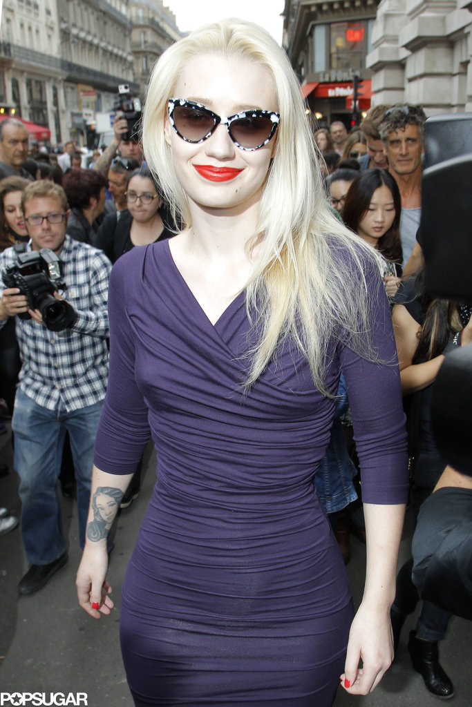 Iggy Azalea turned up at the Vivienne Westwood runway show.
