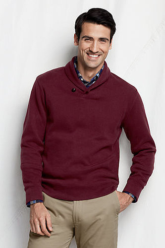 Men's Regular Bedford Rib Shawl Collar Pullover