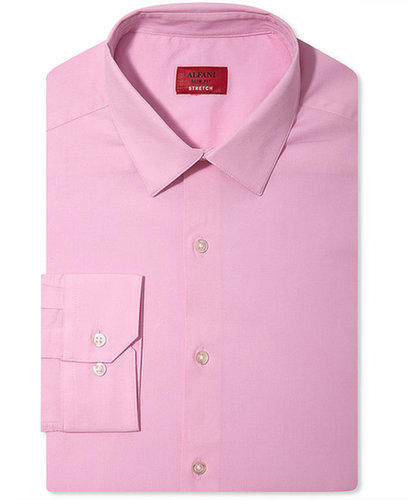 Alfani Spectrum Dress Shirt, Slim-Fit Solid Long Sleeve Shirt