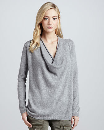 Joie Cowl-Neck Cashmere Sweater