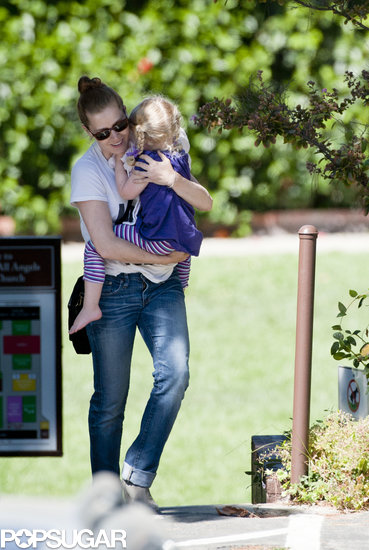 Amy Adams carried her daughter around in LA on Friday.