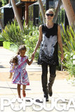 Heidi Klum spent her Saturday in LA with her daughter Lou Samuel.
