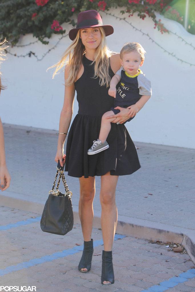 Kristin Cavallari cradled her son during a Malibu lunch date on Saturday.