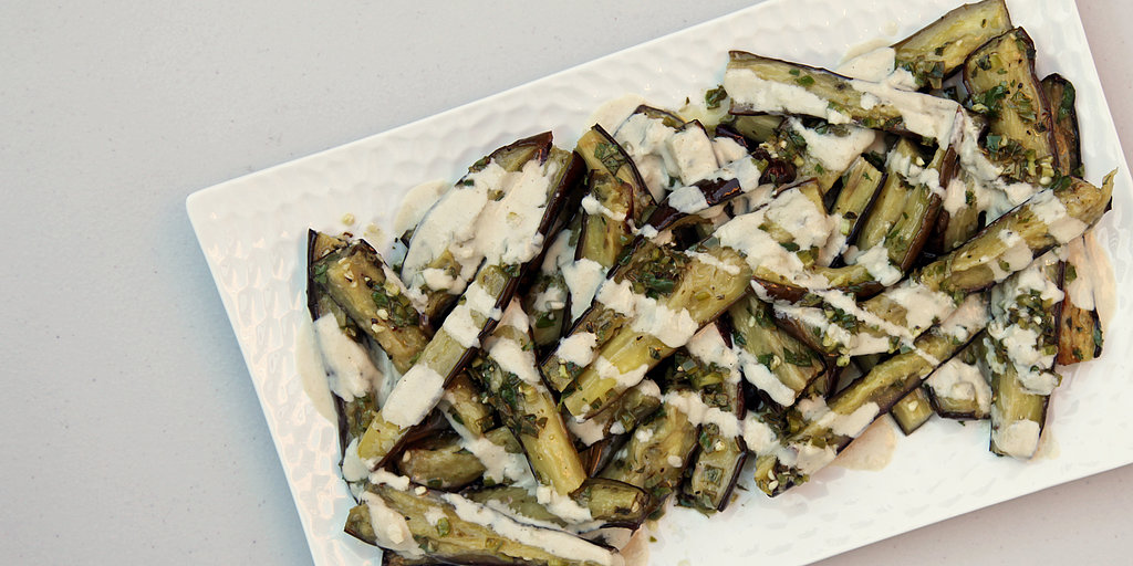 Off the Bookshelf: Ottolenghi's Marinated Eggplant With Tahini