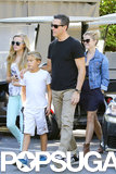 Reese Witherspoon, Jim Toth, Ava, and Deacon ran errands together.