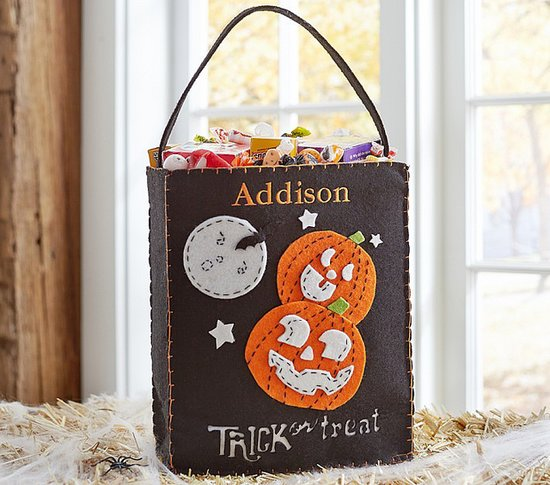Pottery Barn Kids Pumpkin Felt Tote