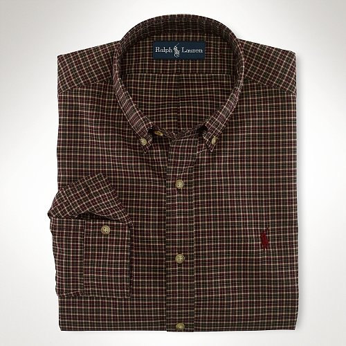 Big & Tall Polo Ralph Lauren Classic-Fit Plaid Sport Shirt