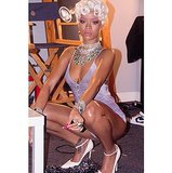 Rihanna went retro in any icy bob and piles of diamonds. Source: Instagram user badgalriri