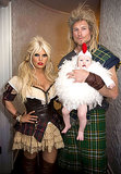 Braveheart Jessica Simpson showed off a milkmaid costume alongside her fiancé, Eric Johnson, who dressed like Mel Gibson from Braveheart. Source: Jessica Simpson