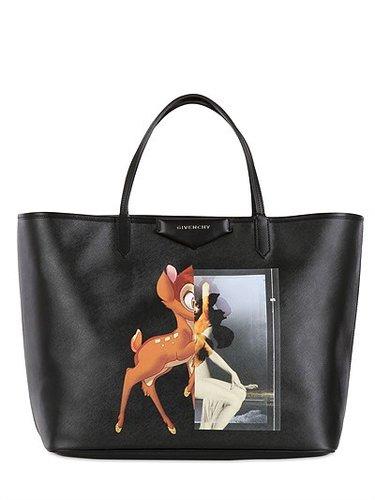 Large Antigona Deer Printed Tote Bag