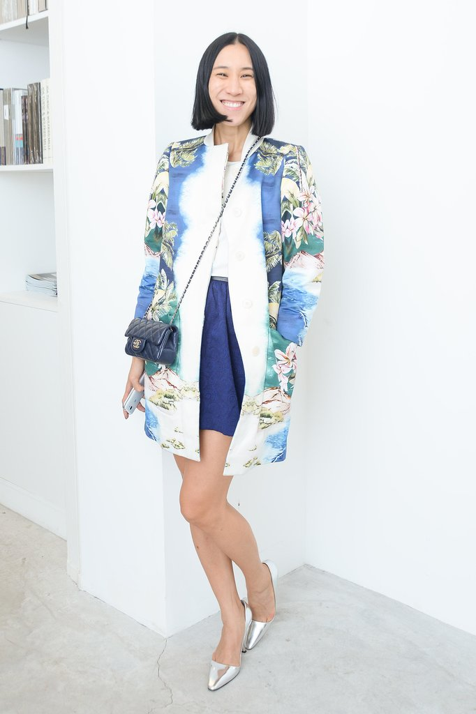 At Delfina Delettrez's presentation, Eva Chen made us blue (in a good way) in Paris.