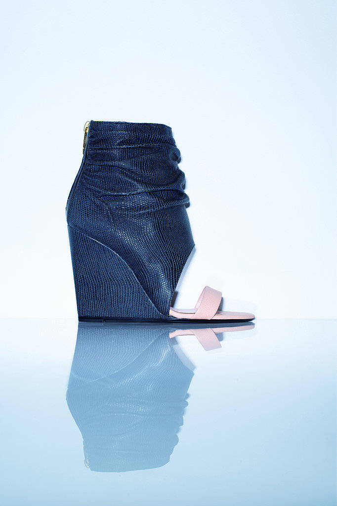 The Ella Ankle Boots in navy calfskin Photo courtesy of Jerome Dreyfuss