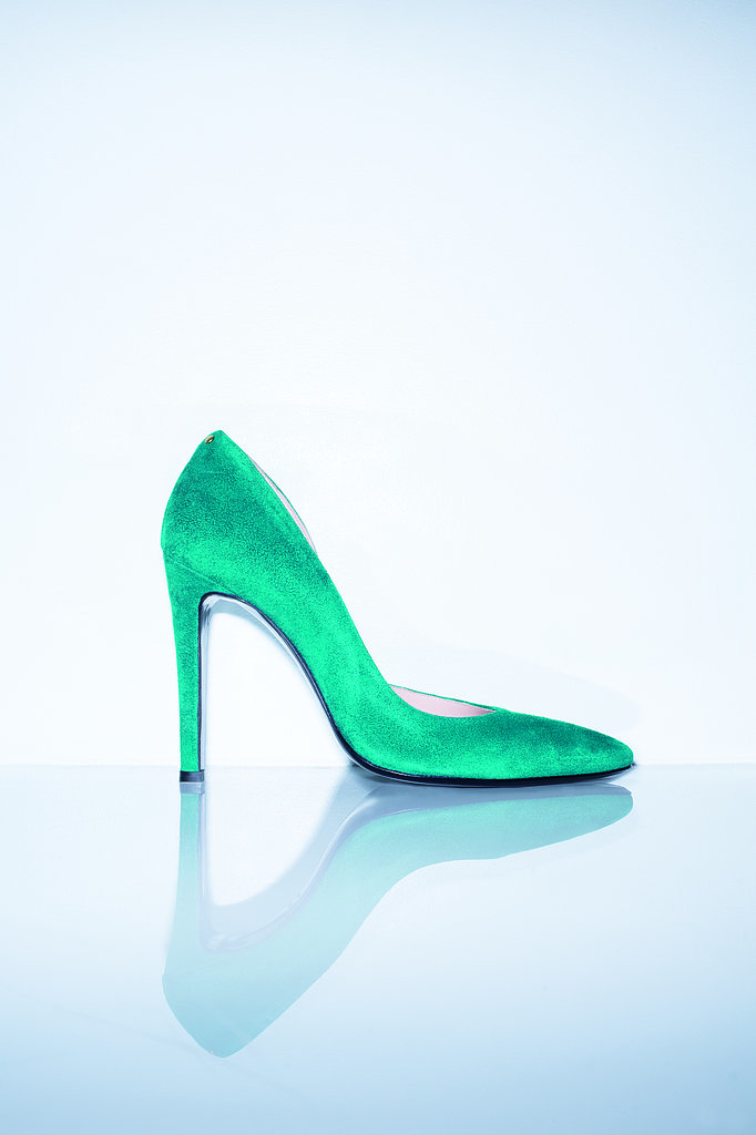 The Pinpin Shoe in emerald goatskin Photo courtesy of Jerome Dreyfuss