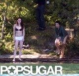 Kristen Stewart and costar Juliette Binoche took off their clothes while filming Sils Maria.