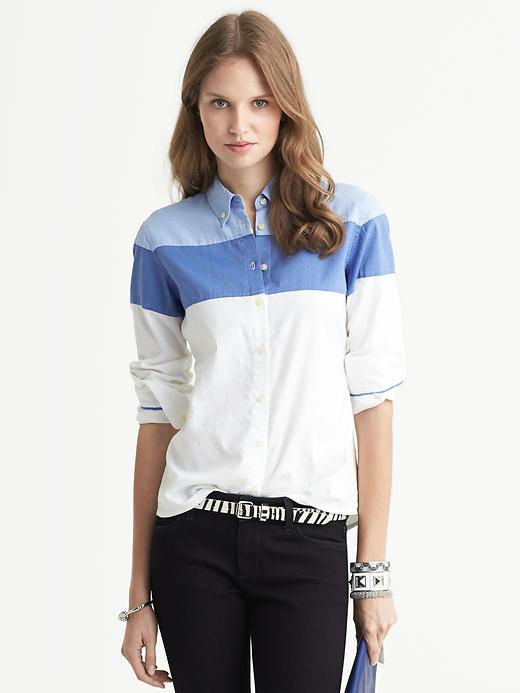 Banana Republic colorblock blouse