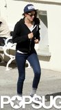 Kristen Stewart jogged around while on location.