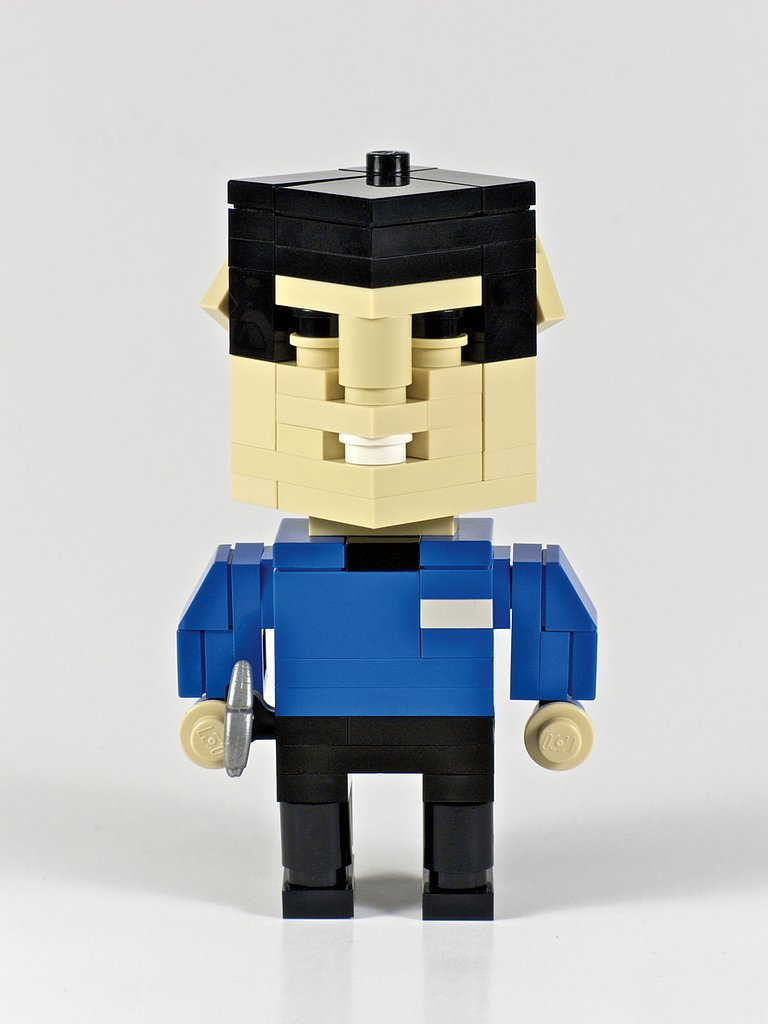 "Live long and prosper, ""CubeDude Spock."" Source: CubeDude Spock (2009) © Angus MacLane"